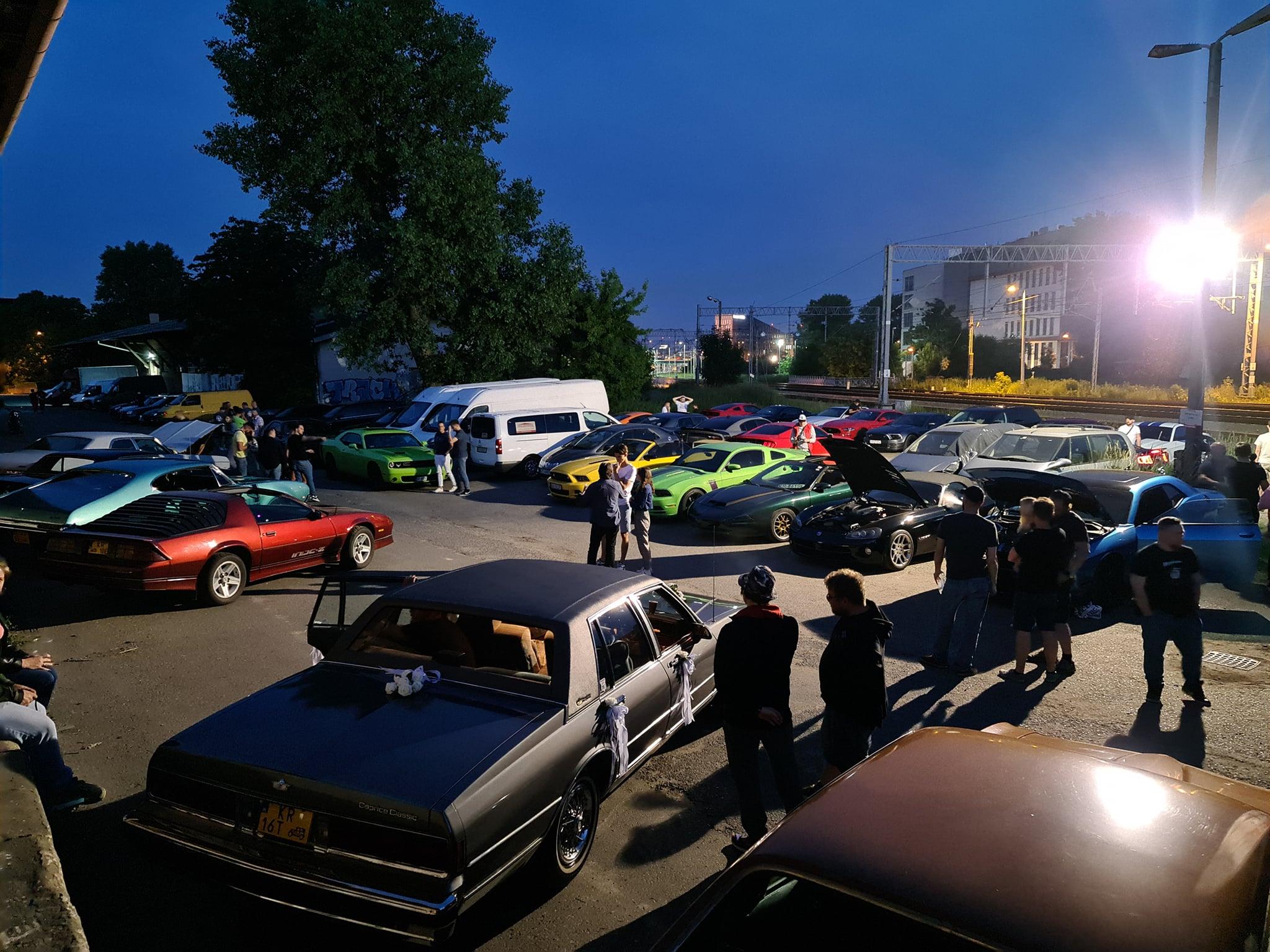 Cykliczne zlot Amercian Muscle Car w Krakowie