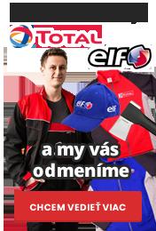 Banner odmeňujeme za nákup olejov TOTAL, EFL